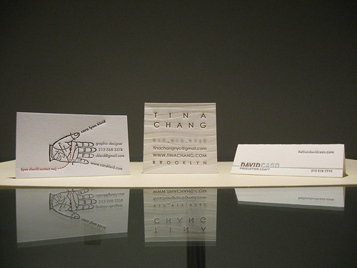 Cool Letterpress Business Cards