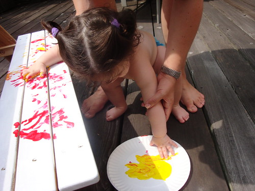 Finger Painting the Table