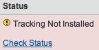 Google Analytics False Tracking Not Installed