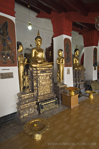 Gold covered buddha.