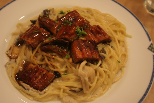 Eel and Mushroom Spaghetti at UCC