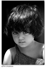 (~OTH~) Tags: family summer vacation portrait bw baby white haircut black reflection cute girl smile look canon kid model eyes child shot cut super 5d cousin 2008 bushra oth bisho