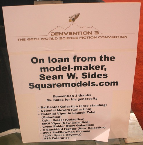 Sign for Model-maker Sean W. Sides
