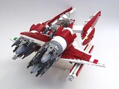 ZR-38 Abaddon rear (peterlmorris) Tags: toy fighter lego mashup viper battlestargalactica moc starfighter gradius illyrian colonialviper vicviper