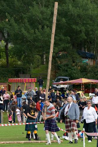 Caber tossing - Abernethy Highland Games, Nethy Bridge