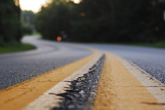 Light on a Winding Road (Inside_man) Tags: morning texture twilight colorful bokeh crack route lane asphalt yellowpaint sooc lightonawindingroad