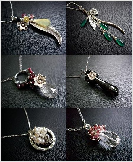 Handmade Sterling Silver Semi Precious Stone Necklaces