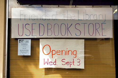 Opening September 3rd - used book store in Stayton Oregon