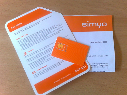 Tarjeta Simyo
