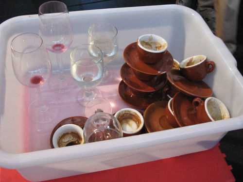 Wine glasses and espresso cups