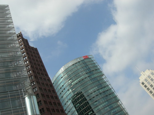 Modernos edificios de la Postdamer Platz