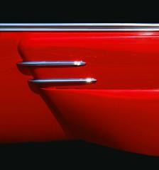 merc skirt (eYe_image) Tags: red abstract wheel classiccar mercury skirt chrome colourartaward