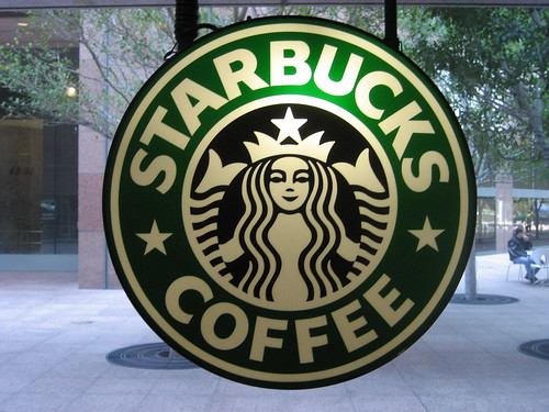 Starbucks logo, Flickr: lewisha1990