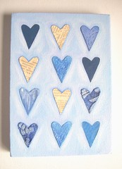 Blue Hearts - Original Mixed Media Painting (art angel 1) Tags: uk blue original england abstract art love painting manchester mixed media artist acrylic heart canvas trunkt trunktteam