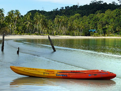 Kayaking on Koh Kooh (Bn) Tags: kayak paddle kayaking recreation lowtide halfmoonbay seakayaking andamansea rainyseason kohkood shallowwater amazingthailand toobad nowind wehadfun greatexperience pristineisland kohkut kohkutisland bangboabay kohchangnationalpark triyak colorfulkayak siamtriyak exploringbykayak goingtothesurf threeseaterkayak mykidslovebigwaves ididntbringcameraonthekayak