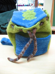 Cutest felted backpack ever (front)