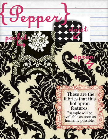 pepper hostess apron