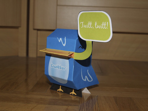 Twitter bird paper-toy by Nerea Marta, on Flickr