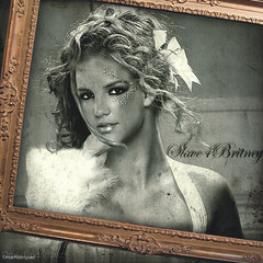 Britney Spears [Old Fashion Art] ( Omar Rodriguez V.) Tags: 2003 old bw art beautiful fashion diamonds magazine hair french photo glamour shoot photoshoot princess spears circus fake style queen diamond frame ribbon draw blackout omar 2008 britney vector outtake rodriguez britneyspears 2007 corel elegance photopaint inthezone womanizer framewall slave4britney