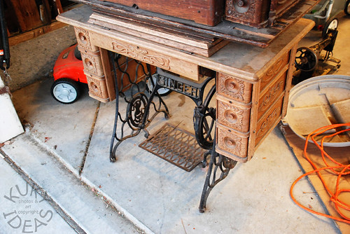 Vintage Singer treadle table