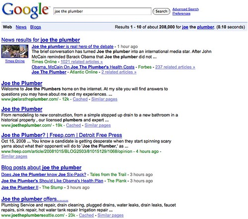 Joe The Plumber On Google