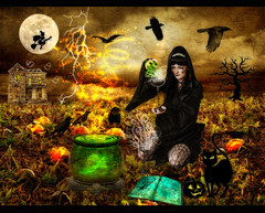 This is Halloween (ISIK5) Tags: texture halloween photomanipulation pumpkin adobephotoshop witch magic stock digitalart manipulation brush deviantart witchcraft retouching happyhalloween timburton hauntedhouse adobephotoshopcs3 halloween2008 bloggedhalloween photomanipuliation