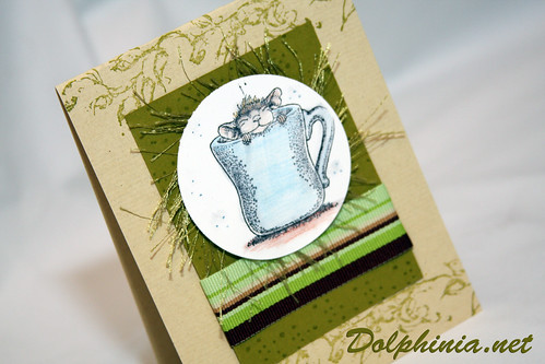Card: Mouse in a Tea Cup
