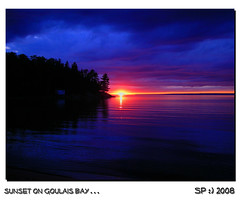 sunset on goulais bay...