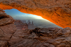 Mesa Arch - 02, Utah (HDR) (wboland) Tags: utah nationalpark scenic canyon canyonlands redrocks hdr mesaarch washerwomanarch