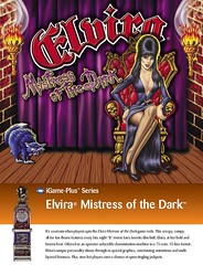 Promo flyer for Elvira slot machine from 2002