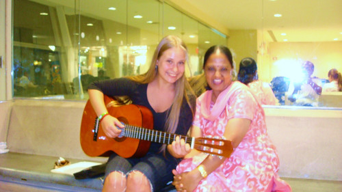 Duet in New York Airport. Tamil Song and a Spanish opera singer