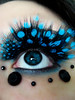 Polka dotted (Lady Pandacat) Tags: blue red wild portrait black macro self ojo crazy mac colorful lashes bright teal feather makeup lips mexican polkadots hispanic latina carbon 2008 electriceel whitefrost falsies fantabulous catchycolorsblue pandacat 365daysreject canona570is fantasymakeup pandacatbaby tinaangel imsoinlovewiththeselashesrightnow ifeel365daysreject ifeellikeadragqueenandilikeit yeahiknowimpale makeupmacro ladypandacatvonnopants