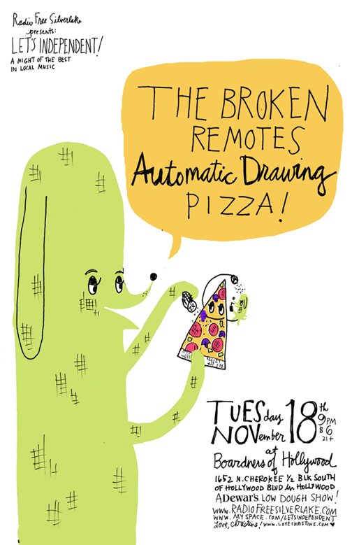 The Broken Remotes/Automatic Drawing/Pizza! Poster