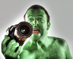 The Insane Hulk - 75/365 Edit (Dan. D.) Tags: portrait green self funny flash setup 365 toon hulk furious homestudio strob 365days strobist eldano