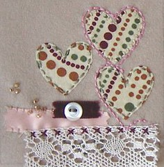 hello...? (emma lamb : living in colour) Tags: love beads heart lace buttons applique embroidered emmalamb