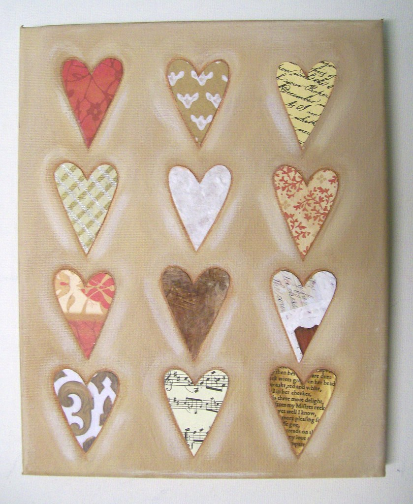Caffe Latte Hearts - Original Painting