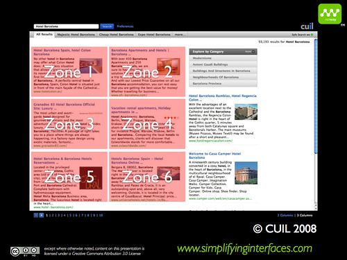 Cuil vs Google - Cuil zones
