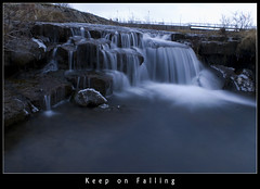 Keep on falling (Ptur Gunn Photograpphy) Tags: blue winter cold ice water speed river geotagged frozen waterfall iceland cool rocks long exposure flickr paradise slow sony best falling shutter alfa keep sland petur a100 slowmotion gunnarsson dsrl aplusphoto flickrlovers