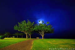 Moon Way (A.alFoudry) Tags: ocean blue trees sea sky cloud moon white tree green grass yellow stone night clouds canon dark way eos moving bush chair gulf wind path empty line resort full fullmoon frame chalet 5d lonely kuwait usm fullframe 2008 ef 1740mm canonef1740mmf4lusm 1740 kuwaiti q8 abdullah khairan  f4l canoneos5d  kuw q80 xnuzha alfoudry sseat  abdullahalfoudry  foudryphotocom