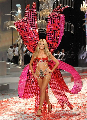Model Heidi Klum walks the runway during Victoria's Secret Fashion Show