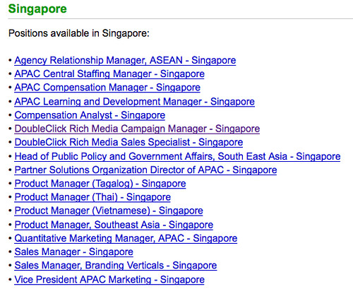 google jobs in Singapore by you.