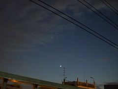 CIMG1798 (technikos) Tags: sky moon smile night star ยิ้ม พระจันทร์ หัวค่ำ