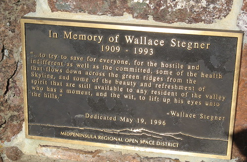 Wallace Stegner bench