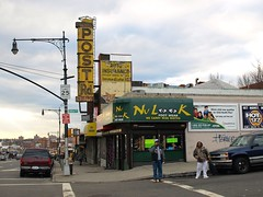 Baychester Street Scene, Bronx, New York City (jag9889) Tags: county street city nyc ny newyork building shop architecture store neon antique bronx streetscene scene signage borough 2008 bostonpostroad bostonroad postrd y2008 jag9889