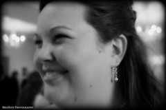 girl with the pearl earing.bw (meghuff) Tags: wedding august iowa reception picnik earing mhp ejwedding