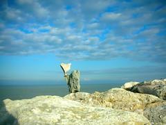 ....buona Domenica..... (rebranca46) Tags: blue friends sky italy clouds rocks heart stones cielo balance 2008 sassi dicembre ephemeral naturalart adriaticsea scogli equilibrio cattolica beautifulexpression mywinners rebranca