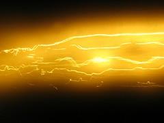Luces de carretera / Road Lights (ajgelado) Tags: longexposure original light espaa orange abstract luz lines canon spain glow powershot salamanca abstracto naranja sodium lineas brillo largaexposicion sodio artlibre a720