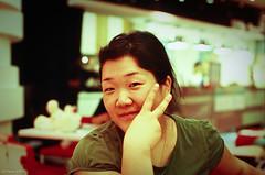 sis-in-law (jykthemuse) Tags: family portrait people woman film girl smile nikon asia korea nikkor bundang  f12 joon   fe2 gyeonggi  50mmf12 adobelightroom  jykthemuse   joonyoungkim