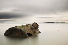 Seahouses Beach; Northumberland (Corica) Tags: uk longexposure greatbritain england seascape beach landscape nikon rust britain northumberland northsea bamburgh farneislands d300 seahouses corica nikond300