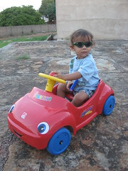 Joe Cool in his Convertable